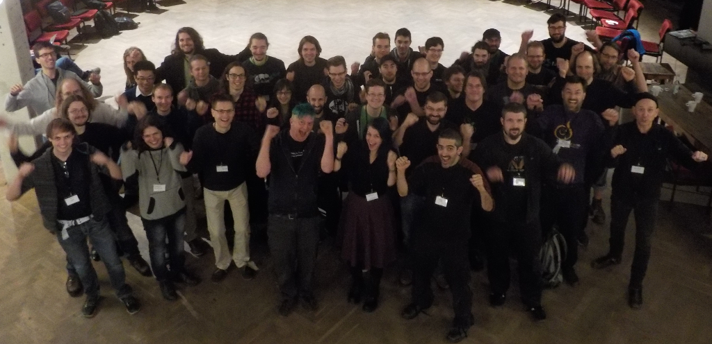 Group picture of participant of Reproducible Builds summit in Berlin